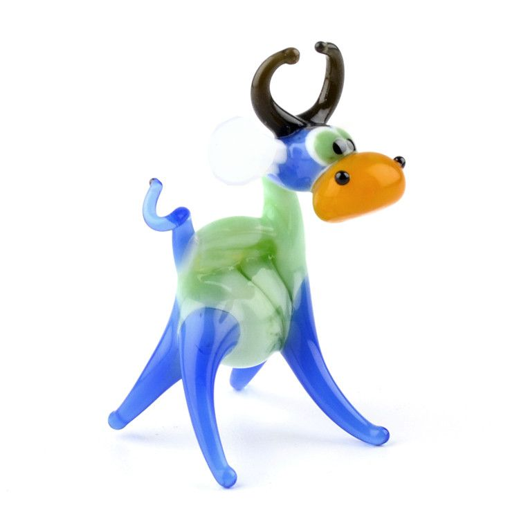 Funny Colorful Cow Figurine