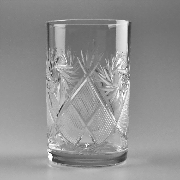 Tall Crystal Tea Glass