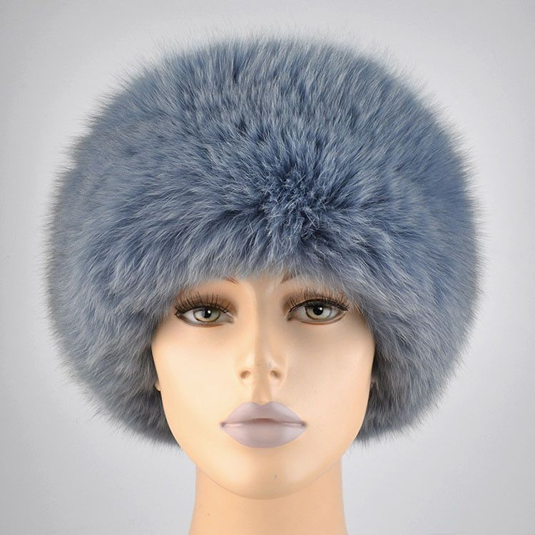 Russian Polar Blue Fox Hat