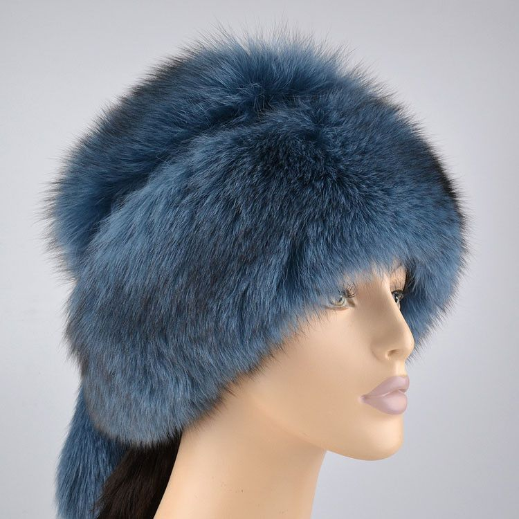 d5cc122144fc8 Women's Fur Hats: Polar Blue Fox Hat - The Russian Store