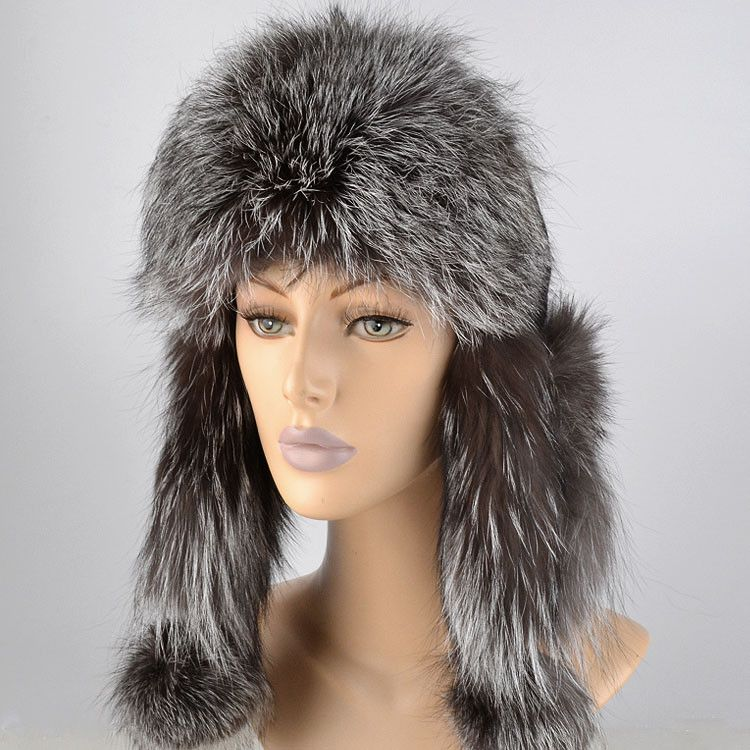 Silver Fox Fur Hat