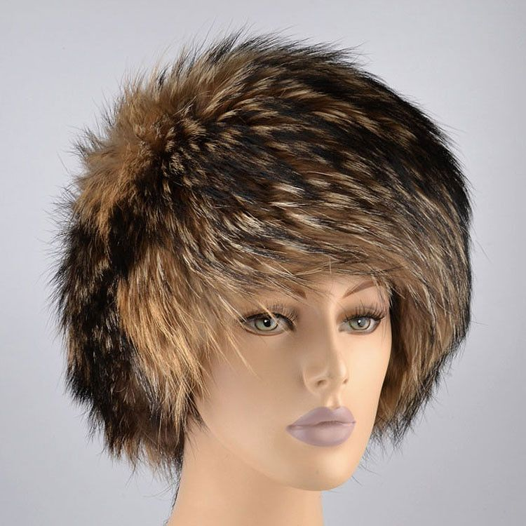 Exquisite Racoon Fur Hat