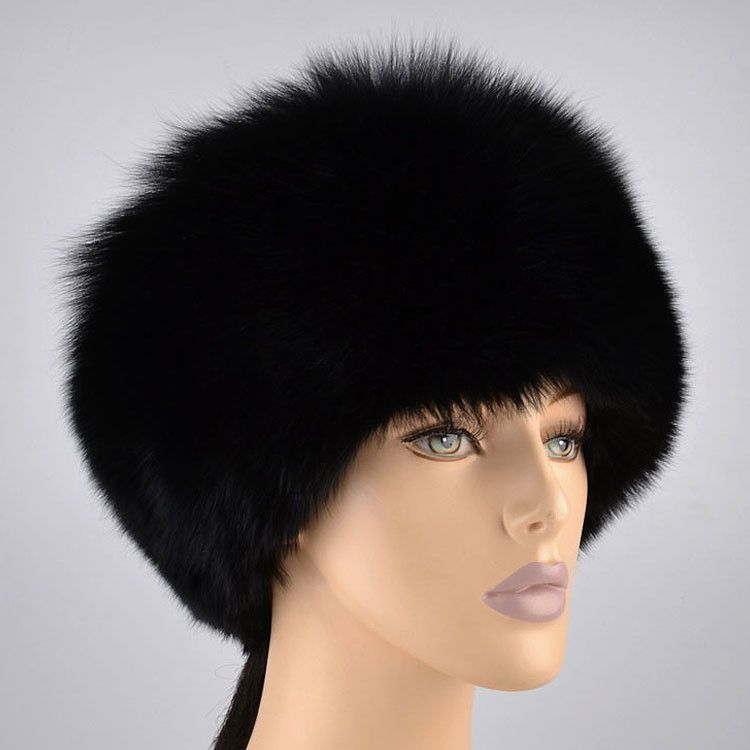 Women's Black Fur Hat