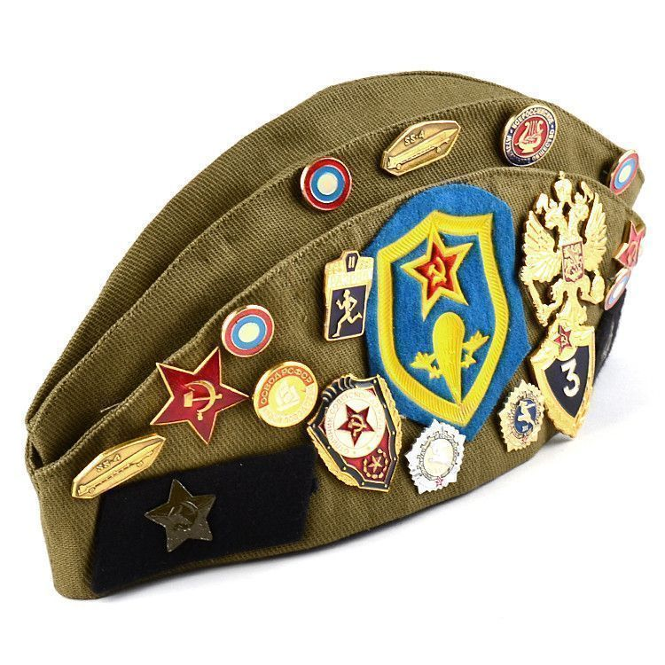 Russian Garrison Cap With Pins