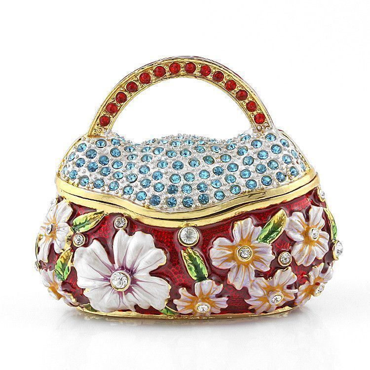 Large Jewelled Purse Keepsake Box