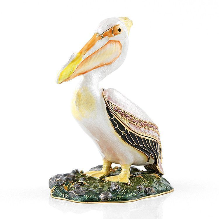 Jeweled Pelican Trinket Box