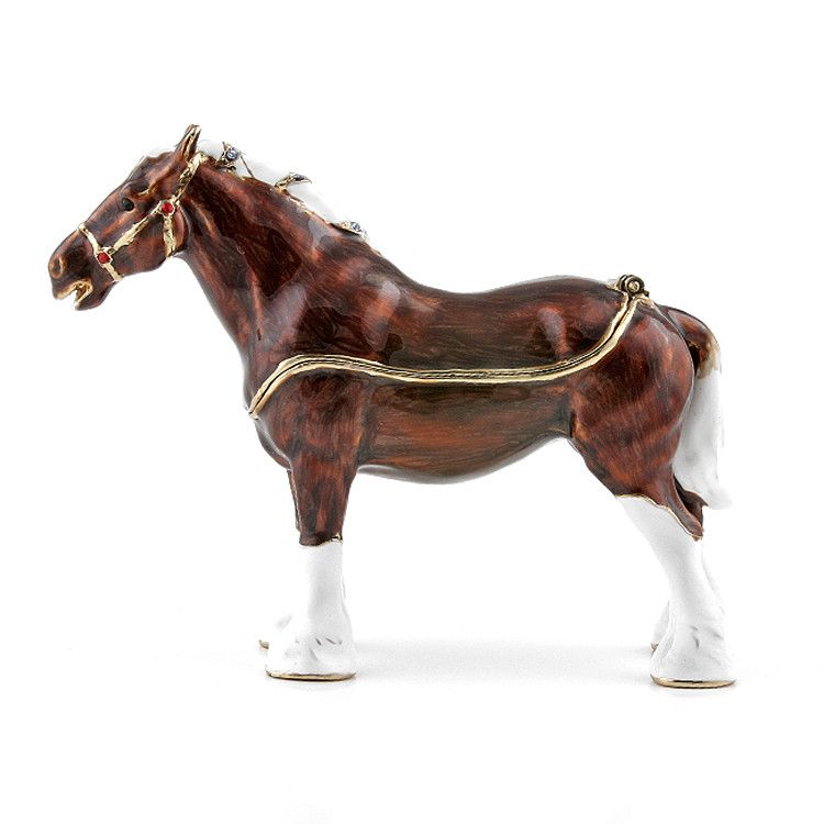 Brown Horse Trinket Box