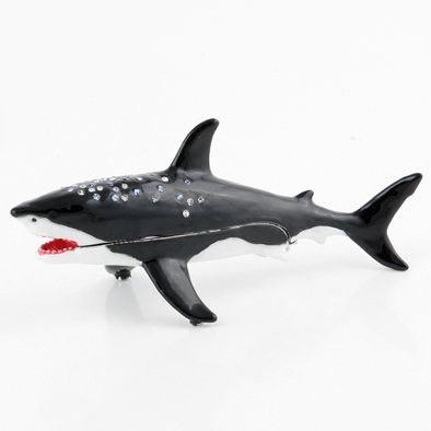 Black and White Shark Trinket Box