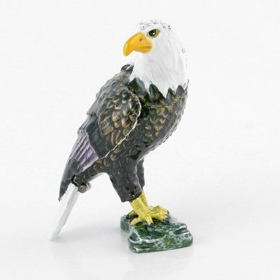 Majestic Bald Eagle Trinket Box