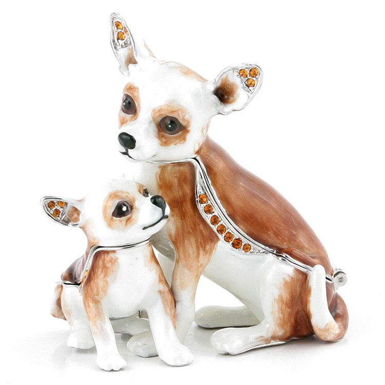 Chihuahua Family Trinket Box Set