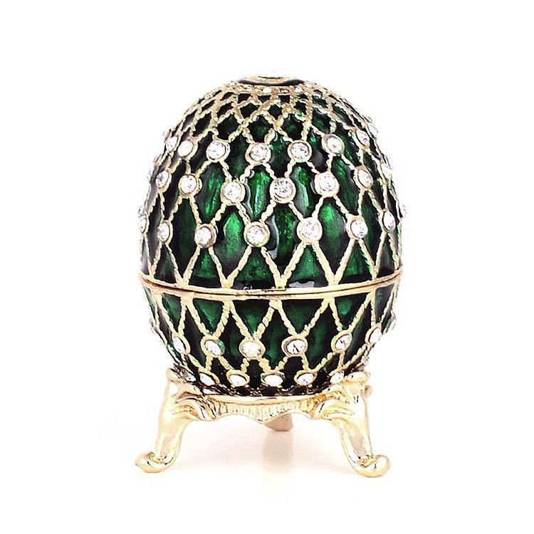 Green Egg Faberge Style Trinket Box