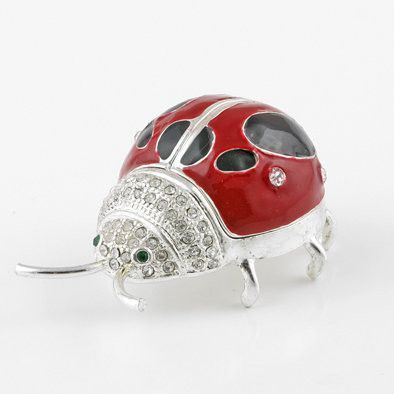 Charming Lady Bug Trinket Box