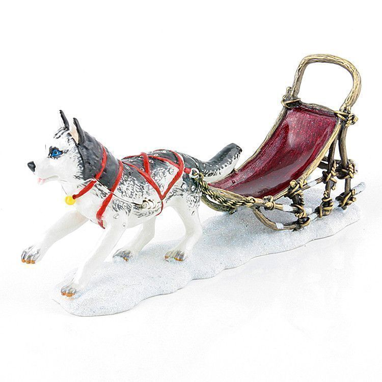 Husky Sled Dog Trinket Box