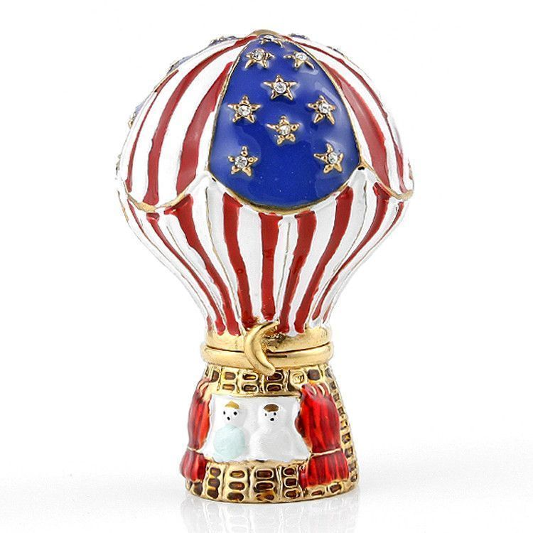 Red White and Blue Balloon Trinket Box
