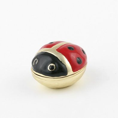 Charming Little Lady Bug Trinket Box