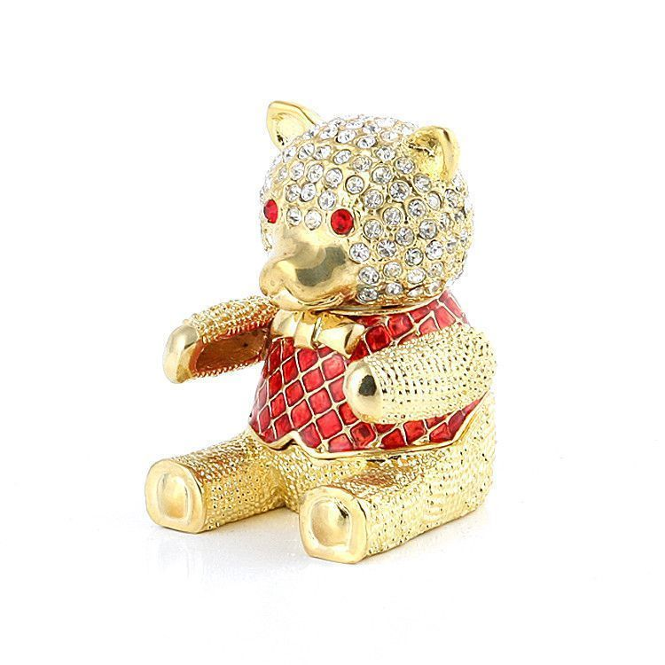 Red Bear Box with Crystals