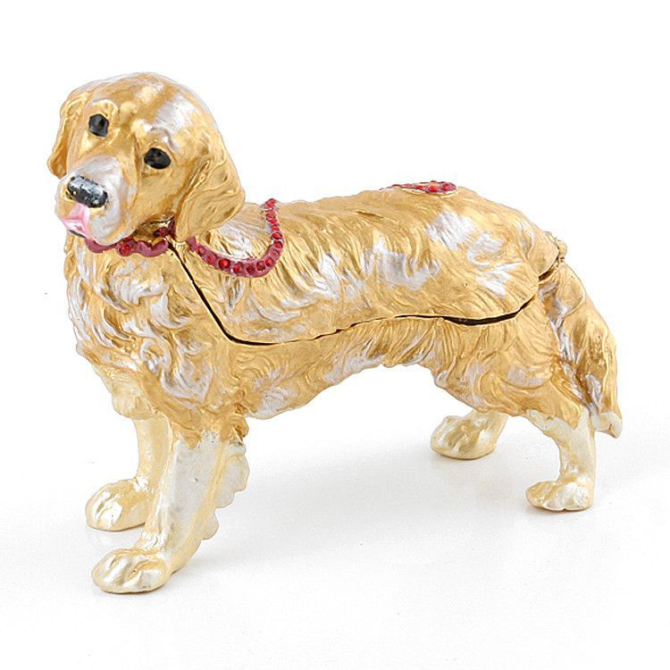 Loyal Golden Retriever Trinket Box