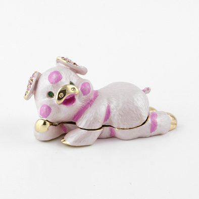 Lazy Pig Bejewelled Box