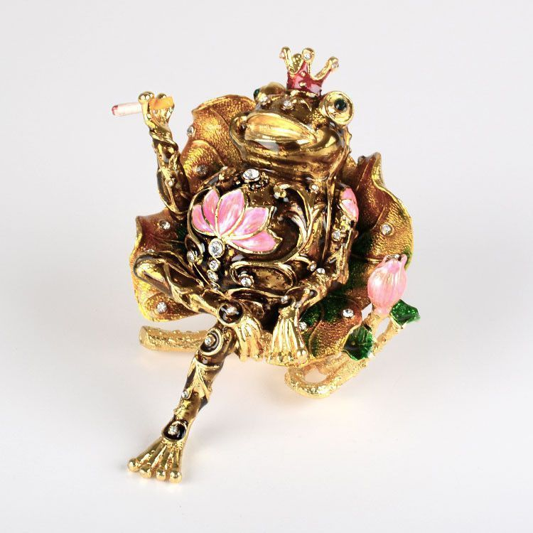 Frog King Trinket Box
