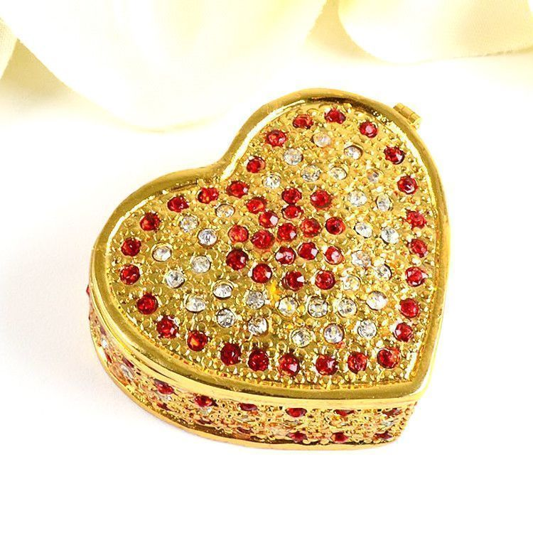 Simple Sparkling Heart Trinket Box