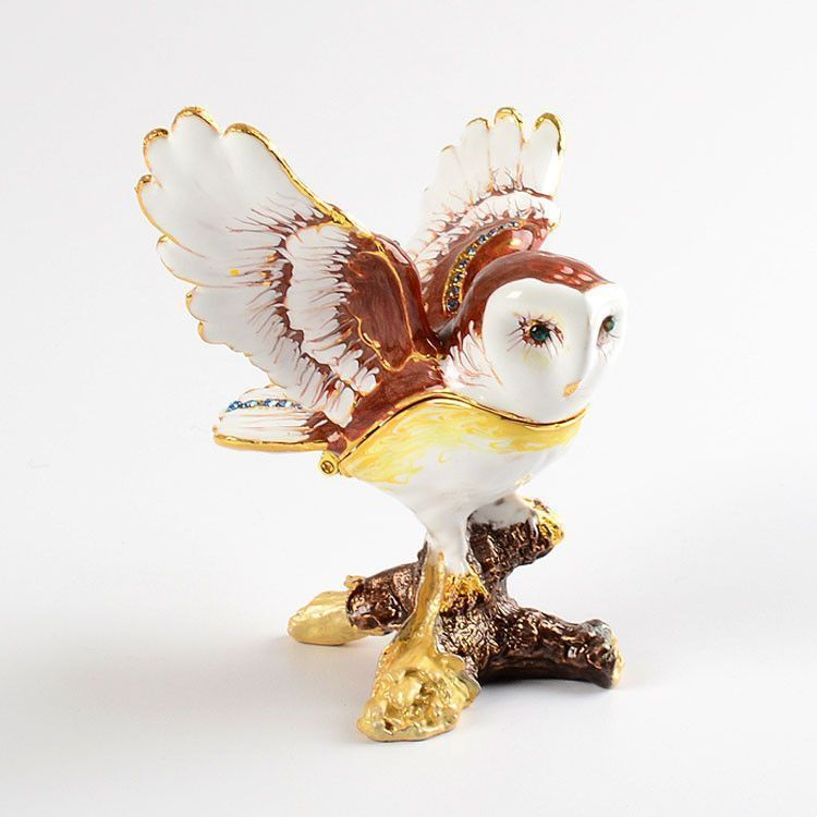 Barn Owl Trinket Box