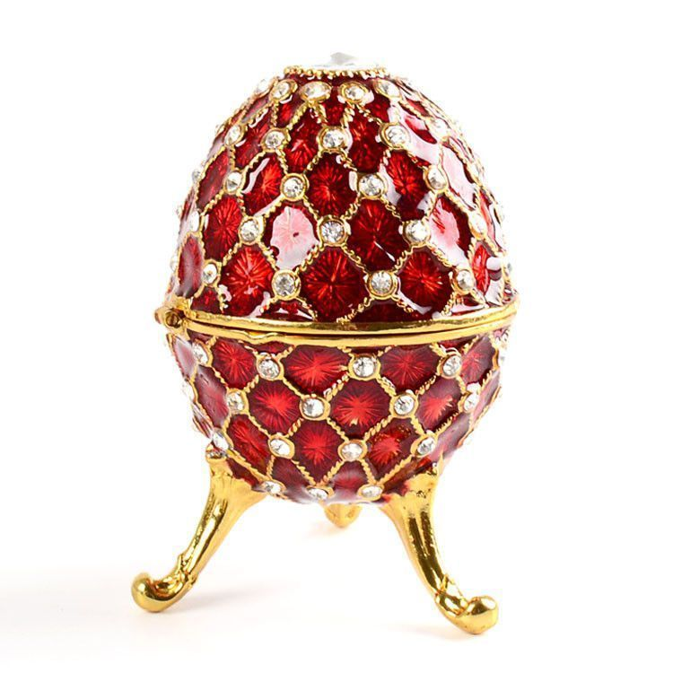 Red Faberge Style Egg Box