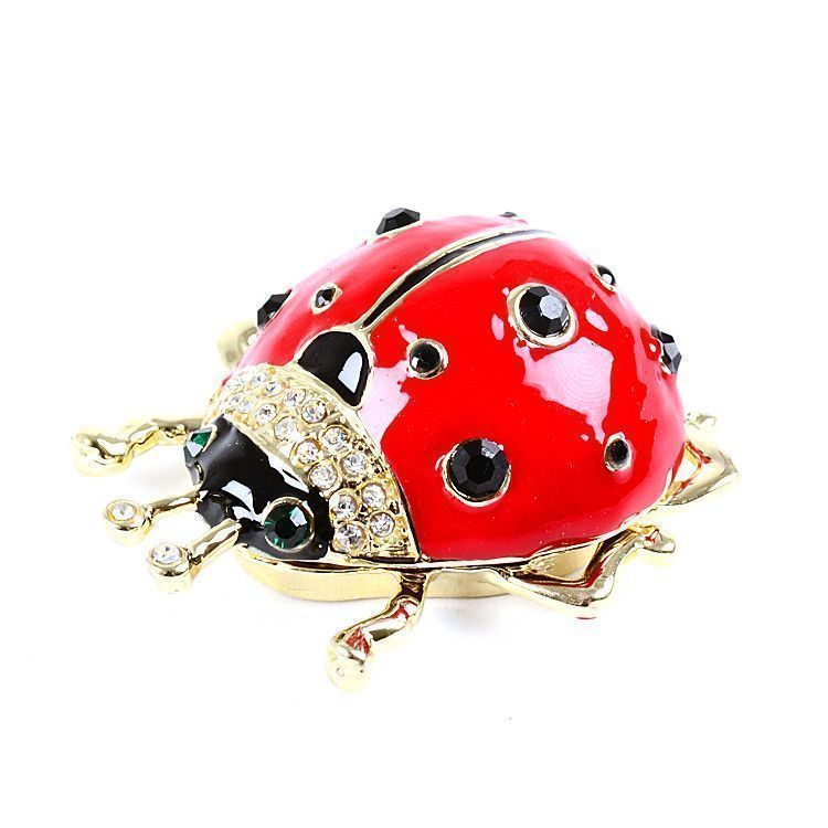 Gold Plated Ladybug Trinket Box