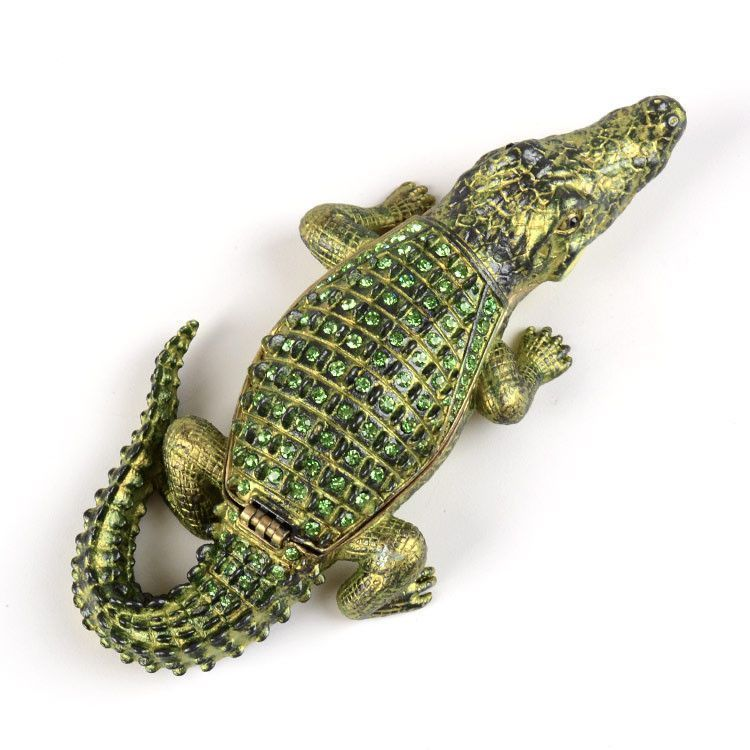 "5 1/2"" Alligator Trinket Box"