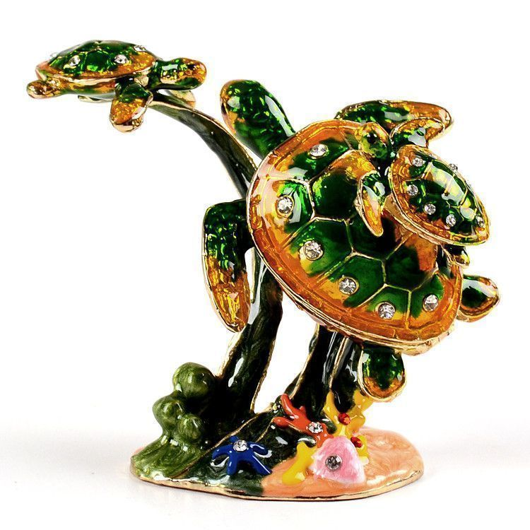 Sea Turtle Family Trinket Box