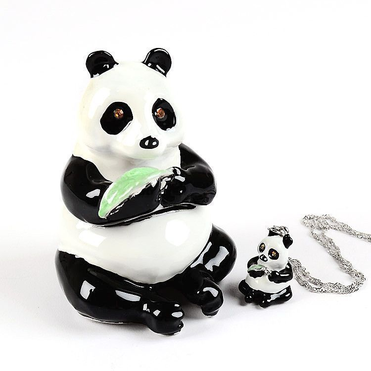 50% OFF Sale - Panda Trinket Box & Necklace Set