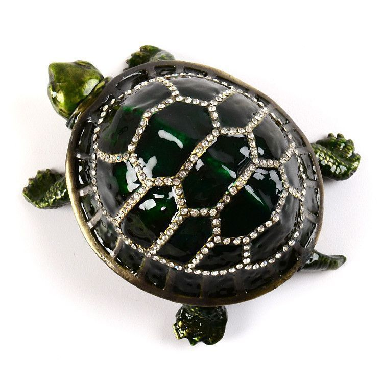 Tortoise with Movable Head Keepsake Box