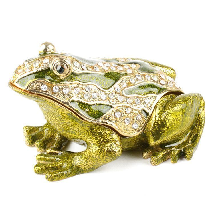 Large and Beautiful Frog Trinket Box