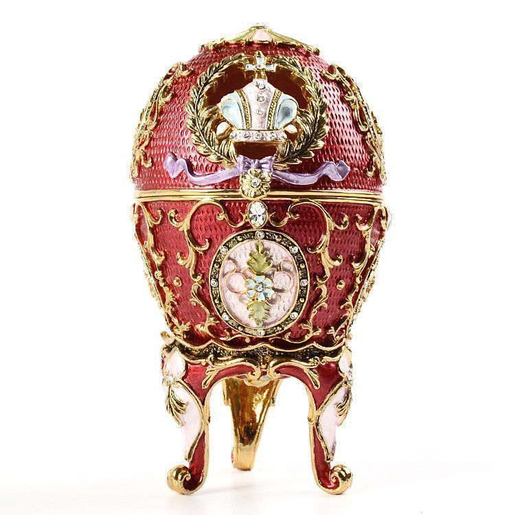 "Fancy Red 2 1/2"" Faberge Egg"