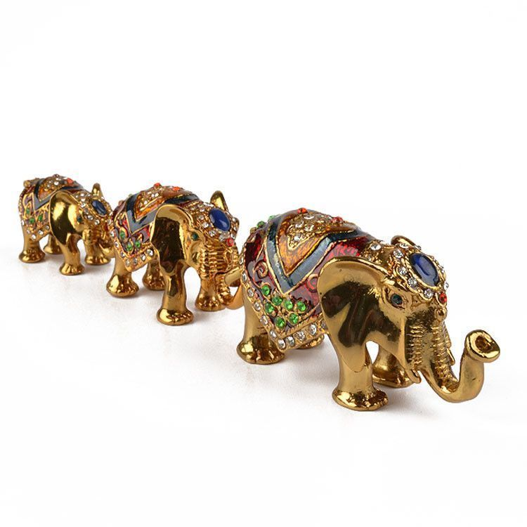 Three Elephants Keepsake Set