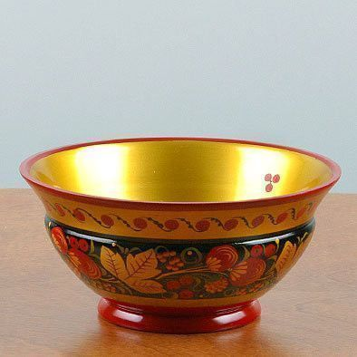 Khokhloma Decorative Bowl