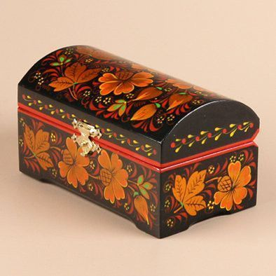 Khokhloma Box for Jewelry