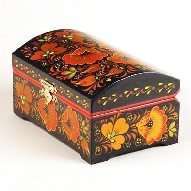 Russian Khokhloma Jewelry Box