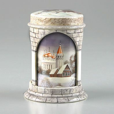 Russian Troika Tower Lacquer Box