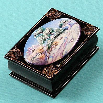 Russian Lacquer Box - Winter Landscape