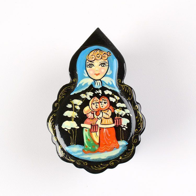 Russian Winter Lacquer Box