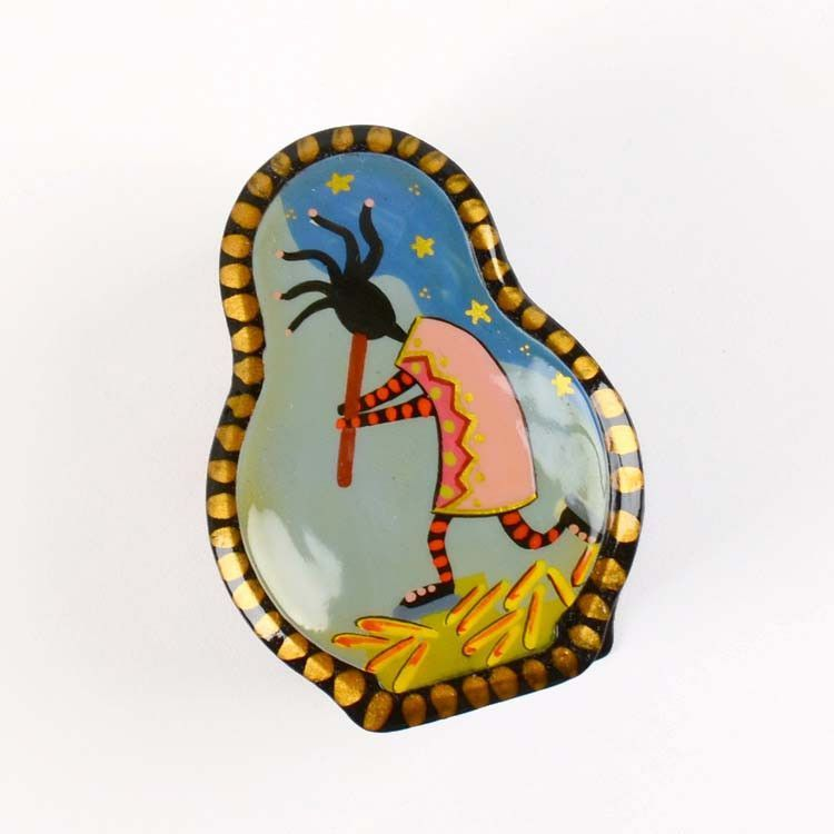 Russian Lacquer Box with Kokopelli