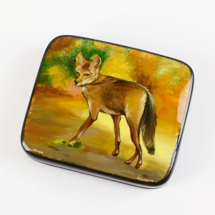 Arizona Coyote Lacquer Box