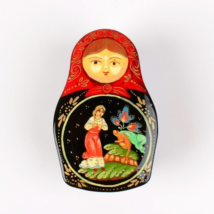 Nesting Doll Shape Russian Lacquer Box