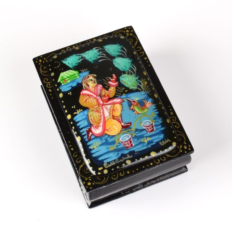 Tale of Golden Fish Lacquer Box