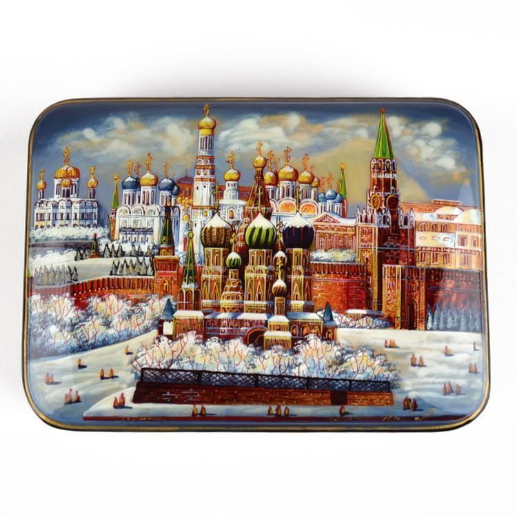Collectible Fedoskino Russian Lacquer Box