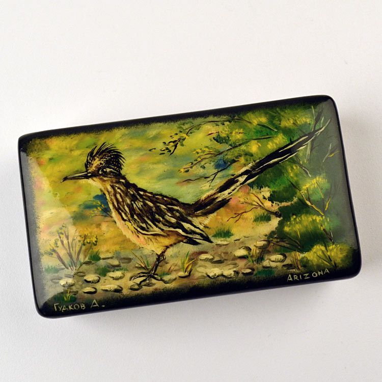 Greater Roadrunner Lacquer Box