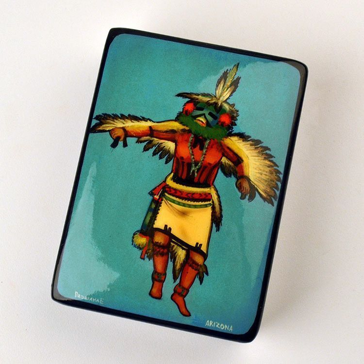 Eagle Kachina Painted Box