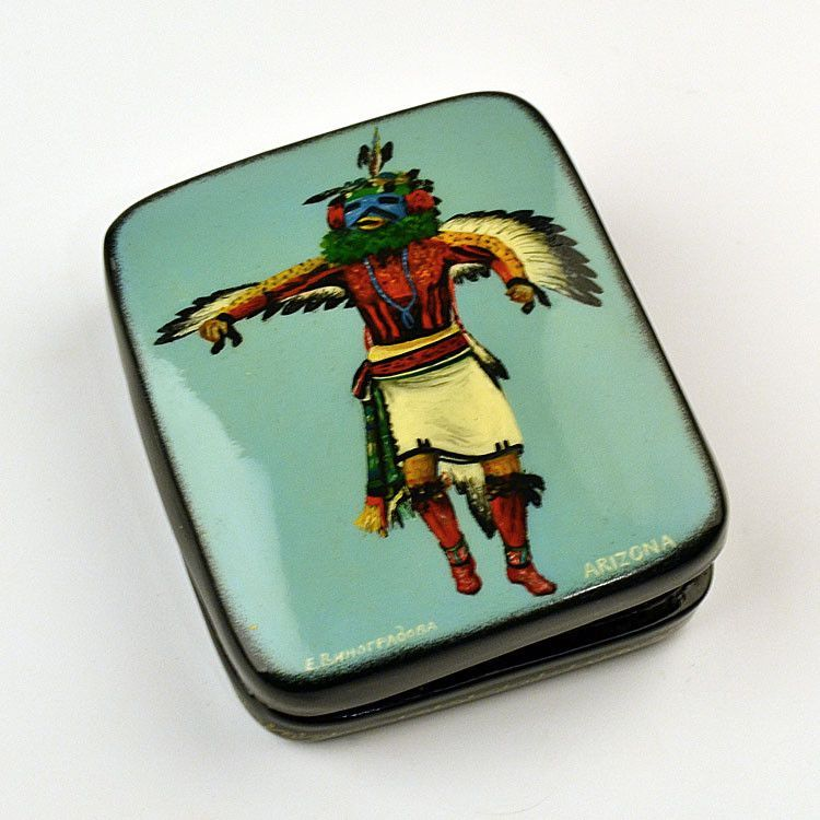Hopi Eagle Kachina Painted Box