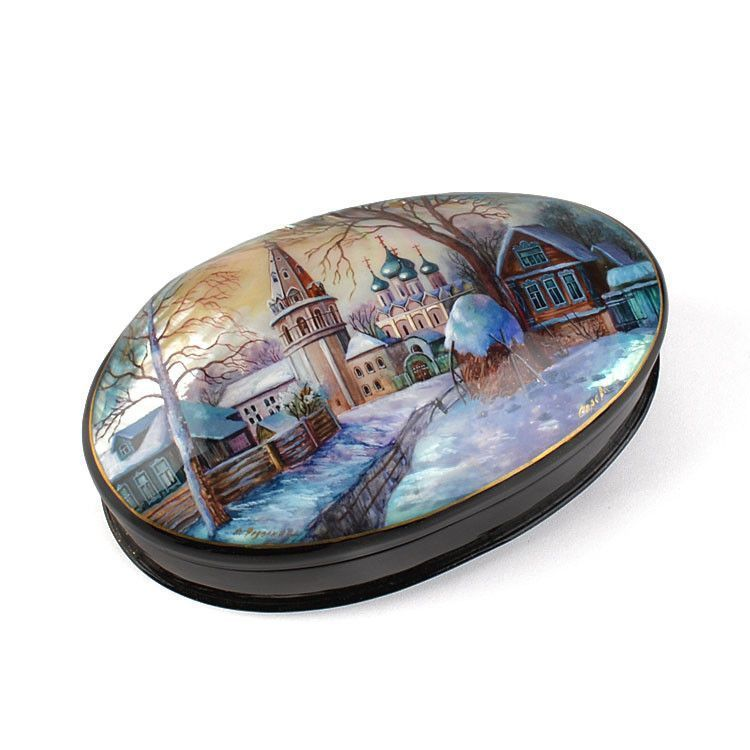 Abalone Shell Russian Lacquer Box