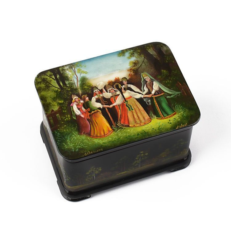 Fedoskino Lacquer Box - Summer Khorovod Dance